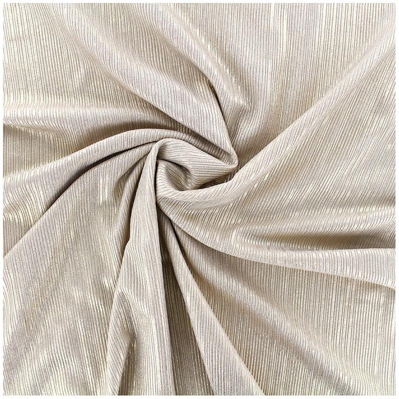 tissu polyester lycra pliss m tallis beige dor x 10cm. Black Bedroom Furniture Sets. Home Design Ideas