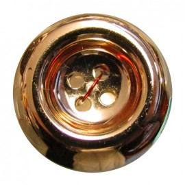 Button with 4 holes - golden