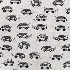 Jersey fabric Tut Tut - mocked ecru x 10 cm