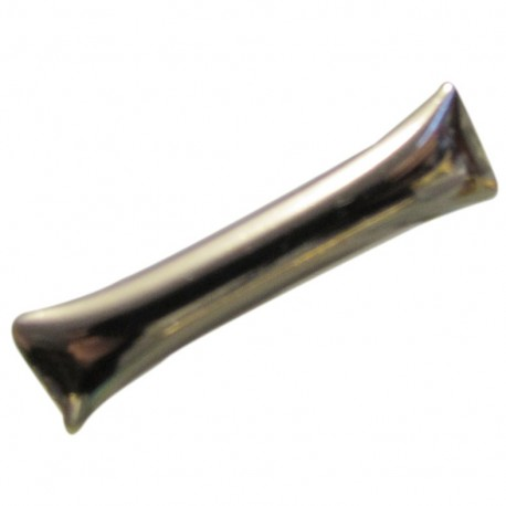 Bouton métal bûche argent