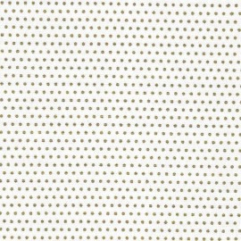 Froufrou cotton fabric Pois scintillant - gold/white x 10cm