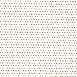 Tissu coton Froufrou Pois scintillant - doré/blanc x 10cm