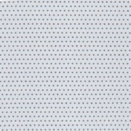 Froufrou cotton fabric Pois scintillant - silver/grey x 10cm