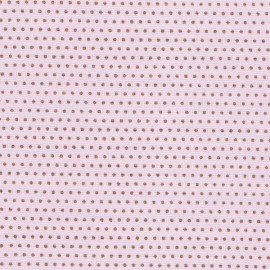 Froufrou cotton fabric Pois scintillant - copper/pink x 10cm