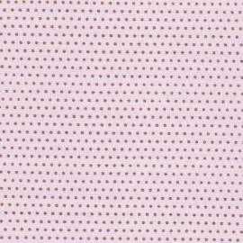 Tissu coton Froufrou Pois scintillant - cuivre/rose x 10cm