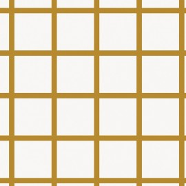 Rico design cotton fabric Grands carreaux - gold/white x 10cm