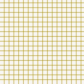 Rico design coated cotton fabric Petits carreaux - doré/blanc x 10cm