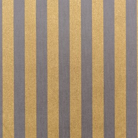 Tissu coton Rico design Rayures - gris/or x 10cm