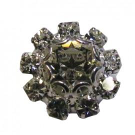 Bouton fleur crystal