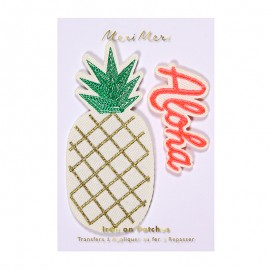 Meri Meri iron on patch - Pineapple