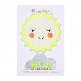 Meri Meri iron on patch - Hello Sunshine