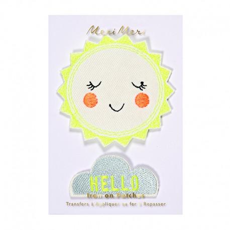 Meri Meri iron on patch - Hello Sunshine