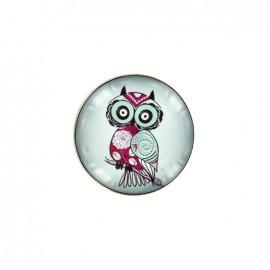 Bouton cabochon Graphique - hibou