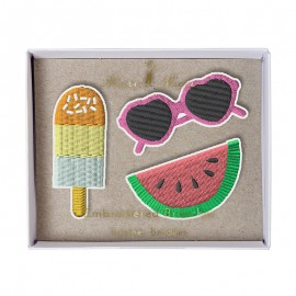Embroidered brooches Meri Meri - Summertime