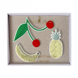 Embroidered brooches Meri Meri - Fruit