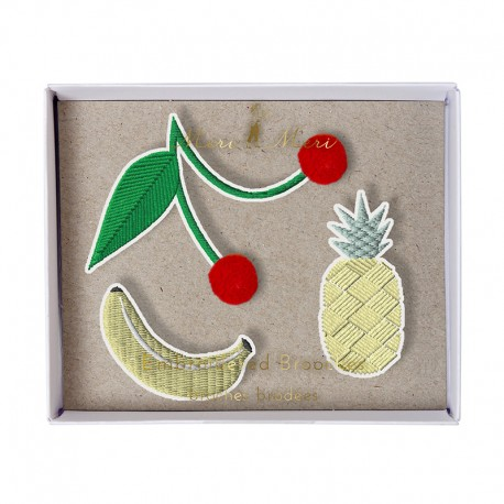 Embroidered brooches Meri Meri - Fruit