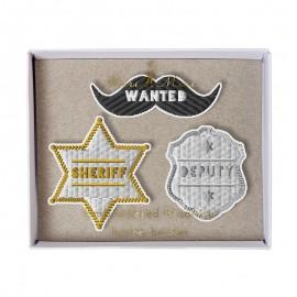 Embroidered brooches Meri Meri - Sheriff