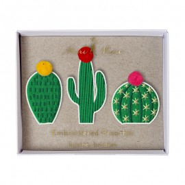 Embroidered brooches Meri Meri - Cacti