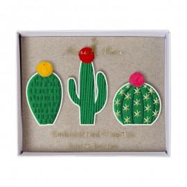 Embroidered brooches Meri Meri - Cacti