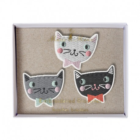 Embroidered brooches Meri Meri - Cats