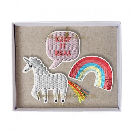Embroidered brooches Meri Meri - Unicorn
