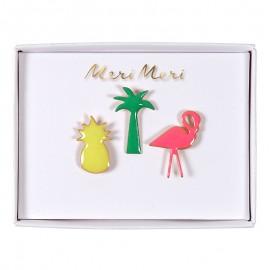 Meri Meri lapel pin - Tropical