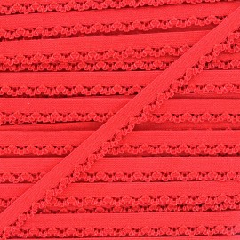 Petite pétale elastic ribbon 10 mm - red x 1m