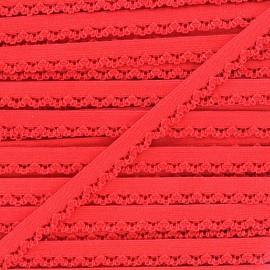 Ruban élastique Petite pétale 10 mm - rouge x 1m