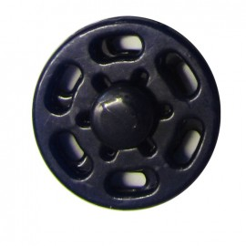 Plastic sew-on snap button - navy blue