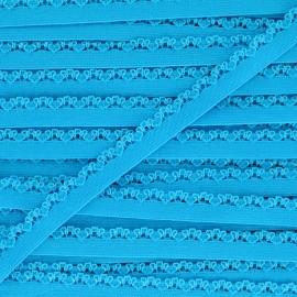 Ruban élastique Petite pétale 10 mm - bleu azur x 1m