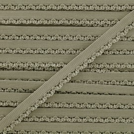 Ruban élastique Petite pétale 10 mm - kaki x 1m