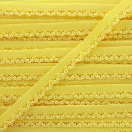 Ruban élastique Petite pétale 10 mm - jaune x 1m