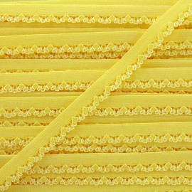 Petite pétale elastic ribbon 10 mm - yellow x 1m