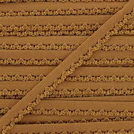 Ruban élastique Petite pétale 10 mm - ocre x 1m