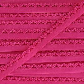 Ruban élastique Petite pétale 10 mm - fuchsia x 1m