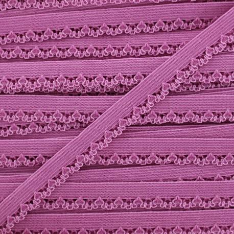 Petite pétale elastic ribbon 10 mm - pink x 1m