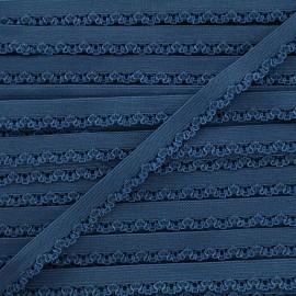 Ruban élastique Petite pétale 10 mm - bleu bleuet x 1m