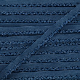 Petite pétale elastic ribbon 10 mm - blueberry blue x 1m