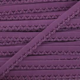 Ruban élastique Petite pétale 10 mm - violet x 1m