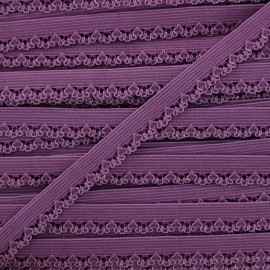 Petite pétale elastic ribbon 10 mm - purple x 1m