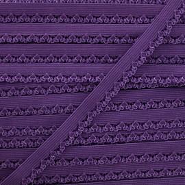 Ruban élastique Petite pétale 10 mm - améthyste x 1m