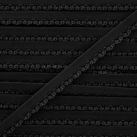 Petite pétale elastic ribbon 10 mm - black x 1m