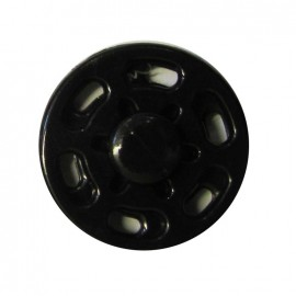 Plastic sew-on snap button - black