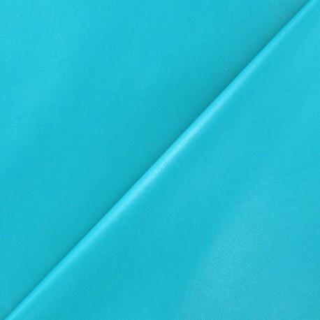 Simili cuir souple bleu paon x 10cm