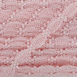 Ruban guipure Petite amande 15 mm - rose dragée x 1m