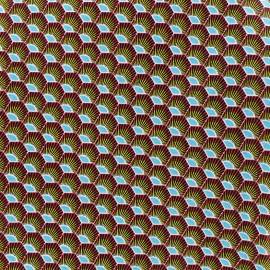 Tissu coton Plume - rouge x 10cm