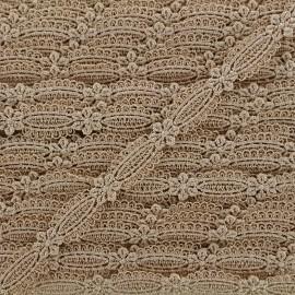 Ruban guipure Petite amande 15 mm - beige x 1m