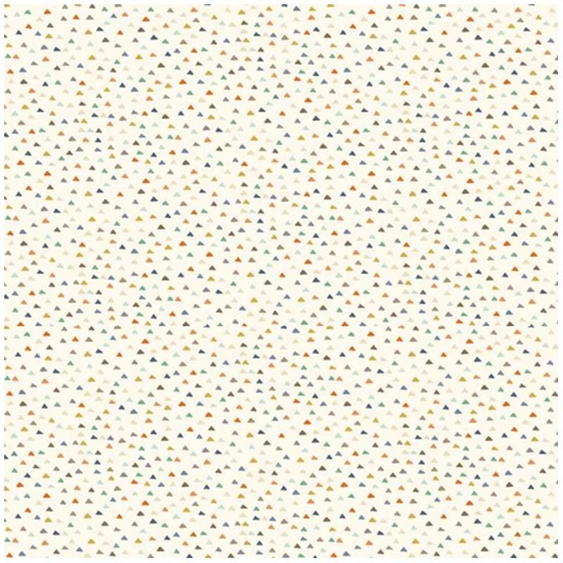 Makower uk cotton fabric baby jungle triangles white x for Baby fabric uk