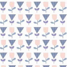 Tissu coton Makower UK Floral Spendor - blue x 10cm