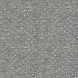 Tissu double gaze de coton Chambray Dobby - charcoal x 10 cm